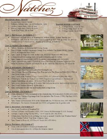 Brandon Hall Plantation: Our Itinerary for the trip