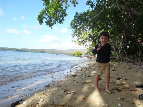 Kanua Tera Ecolodge: plage en bas de la terrasse
