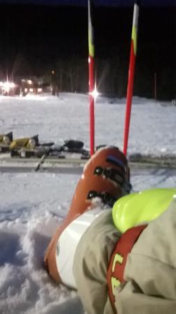 Woodbury Ski Area: night middle of hill