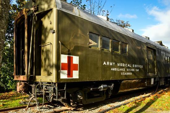 Northwest Railway Museum: US Army Ambulance Kitchen Car