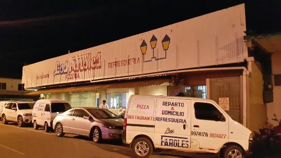 Restaurant Los Faroles : Restaurante los Faroles frente al Fantástic Casino