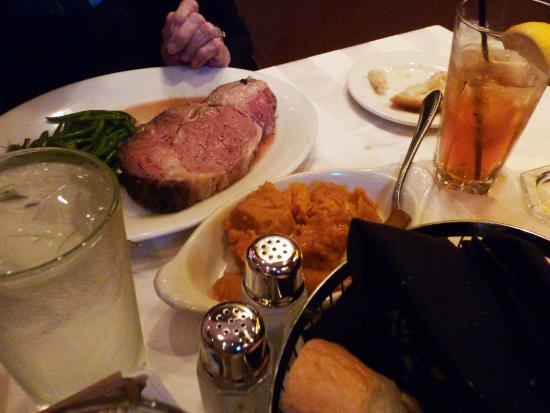 Shula's Steak House: Thanksgiving feast:  prime rib, turkey, and ham