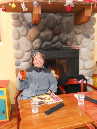 Merridale Gastropub: In front of the fireplace