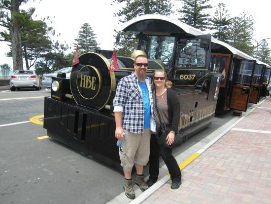 At the end of the tour on the Hawkes Bay Express, Napier