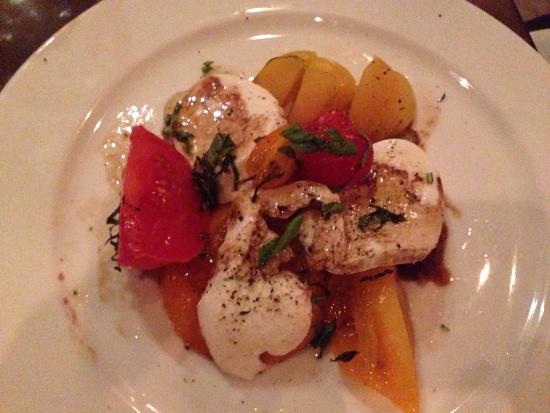 Park Avenue: Heirloom tomato n fresh mozzarella salad