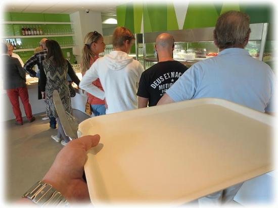 Laxbutiken in Heberg: Have to line up with a tray to get you food-I will not come back