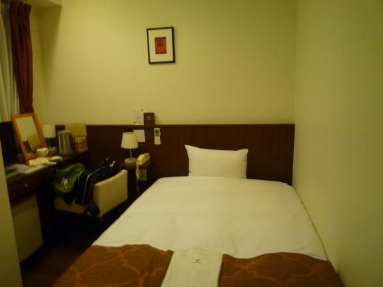 Arietta Hotel Osaka: シングルルームのベッド
