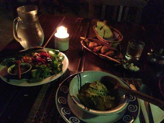 Posada El Canto de la Ballena: The customized vegan dinner