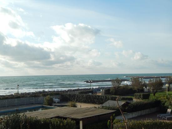 Thalacap Camargue: vue de la terrasse du restaurant