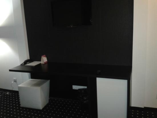 Hotel Fashion: Desk and TV set