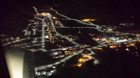 Svalbard Lodge: Polar Nightly Longyearbyen From The Air