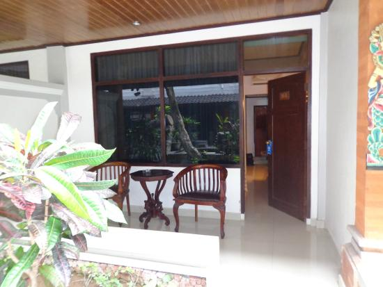Bali Summer Hotel: out front of room 114 (ground floor)