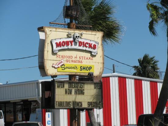 Moby Dick's: Their sign