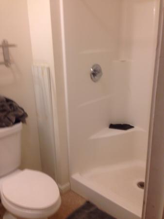 Moosehead Trail Motor Lodge: Bathroom - big shower & hot water.