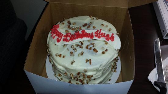 Enjoyable Carrot Cake For My Birthday Picture Of Edgars Bakery Funny Birthday Cards Online Necthendildamsfinfo