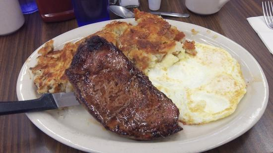 Hugo S Family Restaurant Steak Breakfast