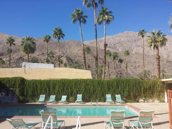 Knights Inn Palm Springs: Beautiful views of the pool area and San Jacinto Mountains