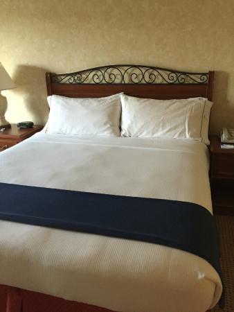 Holiday Inn Express El Dorado Hills Hotel: super comfy bed with quality bedding