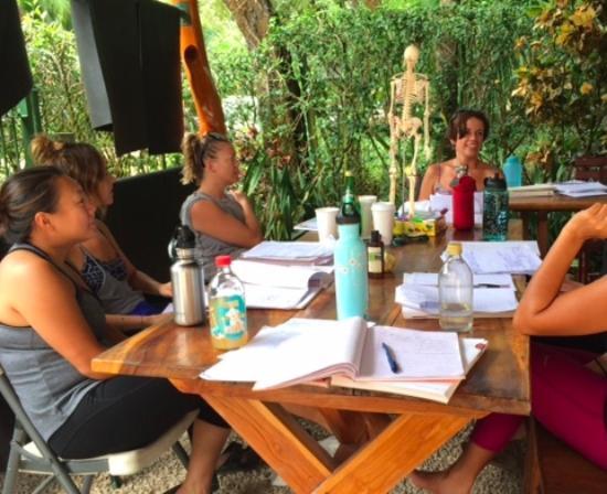 Pilates Nosara at Bodhi Tree Resort: Anatomy Class.