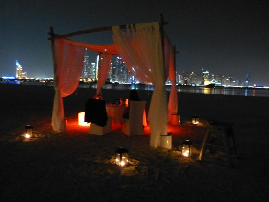 Romantic Dinner On The Beach Picture Of Seagrill Restaurant Lounge Dubai Tripadvisor