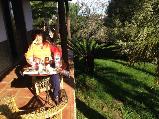 Casa de Campo do Pomar: Petit Déj sur la terrasse