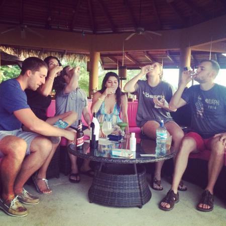 Vista de Olas Restaurant : Shots with new friends