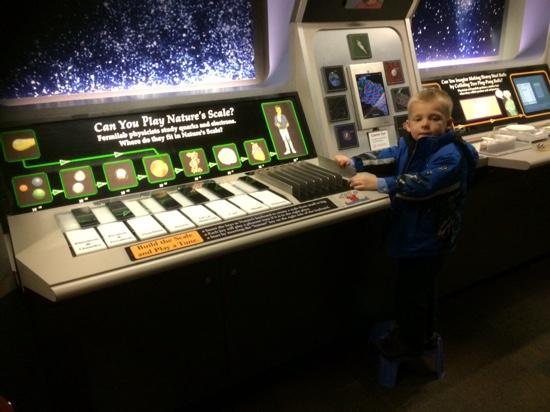 Fermi National Accelerator Laboratory: scale display