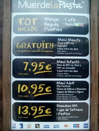Muerde La Pasta Splau: Precios