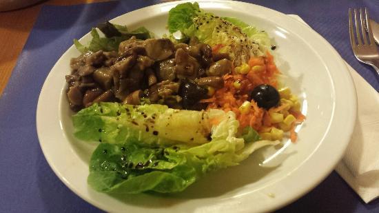 Vegetariano Sarasate: Ensalada de setas