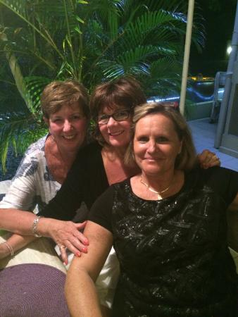 L'Oasis: Ruthanne, MaryBeth and Martine, the owner