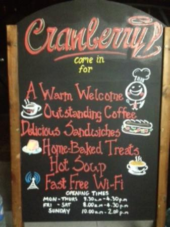 Cranberry: Great little welcome sign