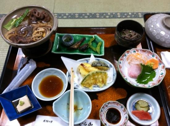 Ryokan Murayama: Delicious dinner at the ryokan