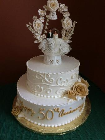 50 most beautiful wedding cakes review 50th anniversary cake delicious cake topper is ours 10434