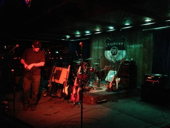 Highway 99 Blues Club Restaurant Pre Show Setup For Ken DeRouchie Band At