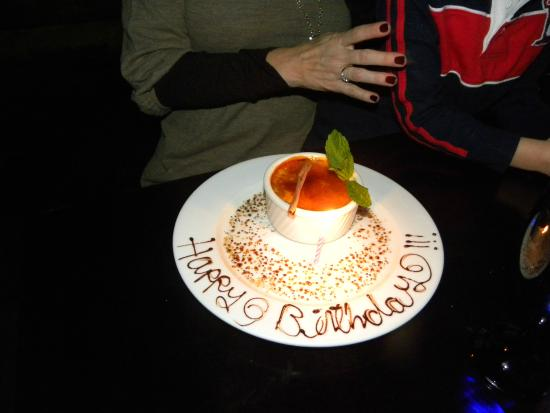 Texas de Brazil: Birthday Dessert