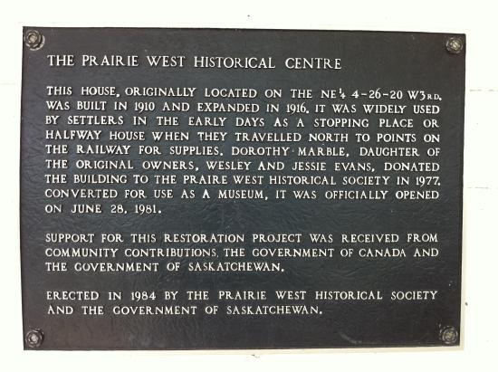Eston, Kanada: Dedication Plaque