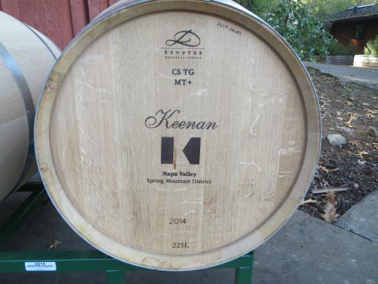 Robert Keenan Winery: Keenan barrels