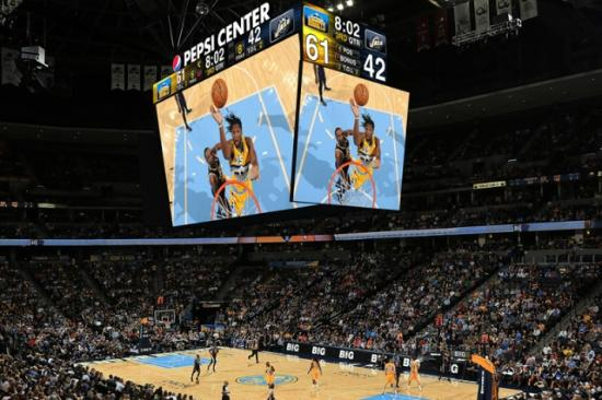 Pepsi Center: Gigantic HD Screen