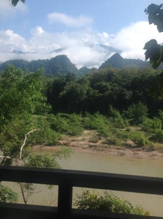 Lao Spirit Resort: view from the villa