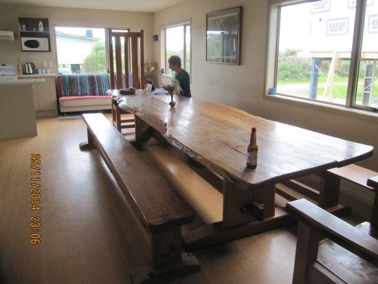 Okarito Beach House: The dining room
