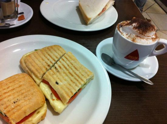 Casa Madeira: great toasted panini with cheese , tomato and basil