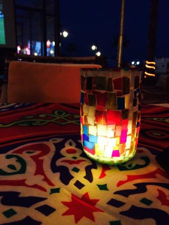Nubian Cafe & Restaurant: Egyptian decor makes it cozy