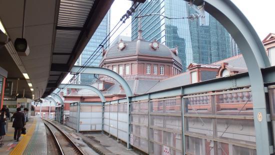 中央線ホームから見たドーム