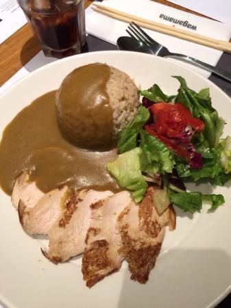 Wagamama - Bloomsbury: kylling i enkel anretning med karrysauce, ris og salat