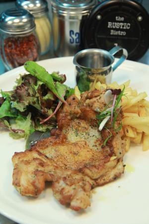 Chicken Chop With Salad And Fries Picture Of Western Cuisine