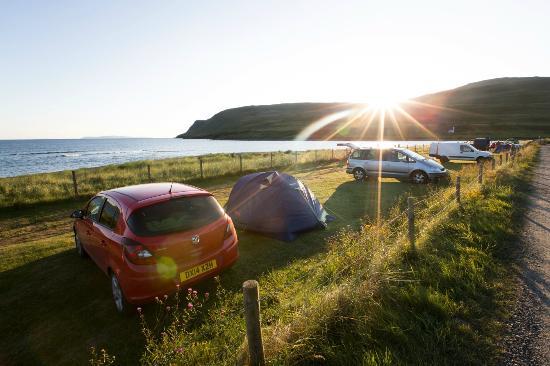 Glenbrittle Campsite & Cafe: Gli spazi tenda