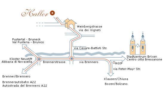 Gasthof Haller: mappa - Lagenplan