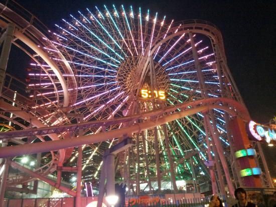 Yokohama Cosmo World : cosmo world clock