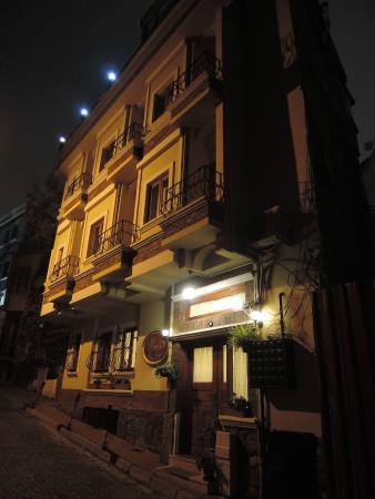Berce Hotel: Night view...