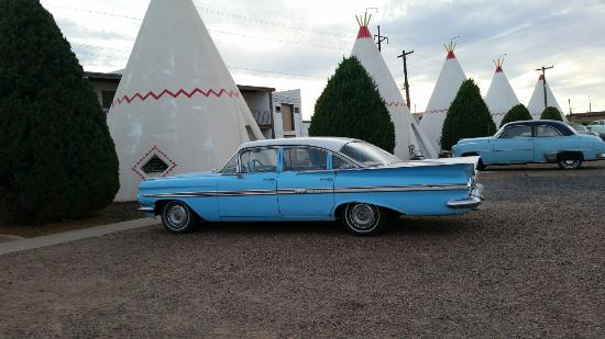 Wigwam Motel: I learned how to drive in a car just like this.